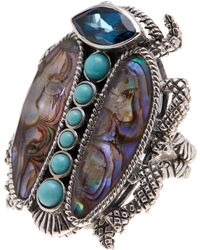 Stephen Dweck - Sterling Silver Topaz & Abalone Scarab Ring - Size 7 - Lyst