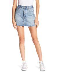 Levi's - Deconstructed Mini Skirt - Lyst