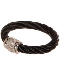 Alor - 18k White Gold Tricolor Stainless Steel Twisted Cable Ring - Size 6.5 - Lyst