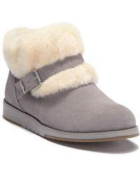 dce21bb3cb9 UGG Michaela Waterproof Wool Lined Suede Boot in Black - Lyst
