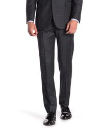 "Brooks Brothers - Charcoal Windowpane Explorer Regent Fit Suit Separates Trousers - 30-34"" Inseam - Lyst"