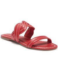 Bernardo - Mirian Double Strap Leather Sandal - Lyst