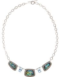 Judith Jack - Sterling Silver Faceted Swarovski Marcasite Collar Necklace - Lyst