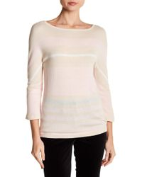 Basler - Colorblock Stripe Pullover Sweater - Lyst