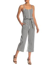 0f74b8d6d055 RACHEL Rachel Roy - Striped Wide Leg Belted Jumpsuit - Lyst