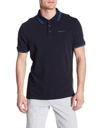 Ben Sherman - Short Sleeve Tipped Pique Polo - Lyst