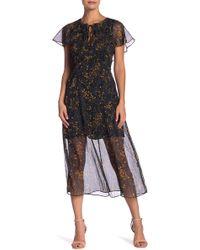 Line & Dot - Garlan Print Dress - Lyst