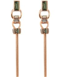 Vince Camuto - Faceted Crystal Linear Tassel Earrings - Lyst