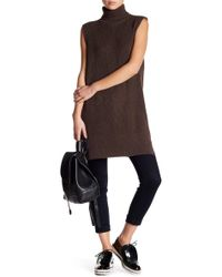 Six Crisp Days - Sleeveless Turtleneck Knit Tunic Sweater - Lyst