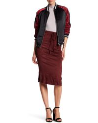 Honey Punch - Faux Suede Midi Skirt - Lyst