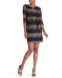 Sandra Darren - 3/4 Sleeve Knit Sweater Dress - Lyst