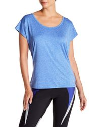 Balance Collection - Exhale Drape Back Tee - Lyst