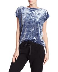 Vince Camuto - Crushed Velvet Cap Sleeve Shirt - Lyst