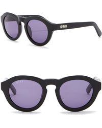 DIFF - Dime Round Keyhole Bridge 48mm Acetate Sunglasses - Lyst