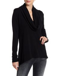 Go Couture - Cowl Neck Pullover Sweater - Lyst