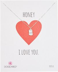 Dogeared | Teddy Bear Charm Necklace | Lyst