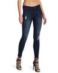 1822 Denim - Undone Hem Stretchy Skinny Leg Jeans - Lyst