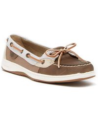 Sperry Top-Sider | Angelfish Stripe Leather Boat Shoe | Lyst