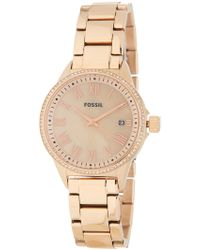 Fossil - Women's Blythe Crystal Accented Bracelet Watch, 38mm - Lyst