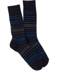 BOSS - Striped Socks - Lyst