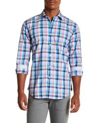 Bugatchi - Plaid Long Sleeve Shaped Fit Shirt - Lyst
