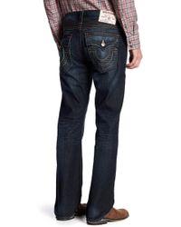 True Religion   Straight Leg Run Stitch Jeans   Lyst
