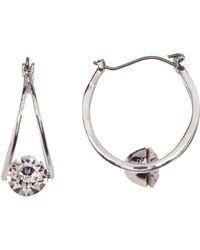 c.A.K.e. By Ali Khan - Swarovski Crystal Mini Hoop Earrings - Lyst