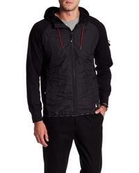 Lindbergh - Quilted Hooded Zip Jacket - Lyst
