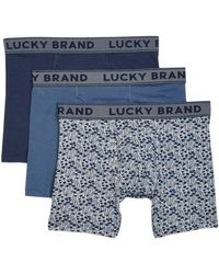 Lucky Brand - 3 Pack Stretch Boxer Briefs - Lyst