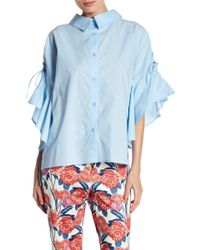 Jealous Tomato - Point Collared Front Button Blouse - Lyst
