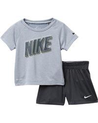 2816027d408 Nike Baby Boy 12-24 Months Short Sleeve Black Cat Tee & Shorts Set ...