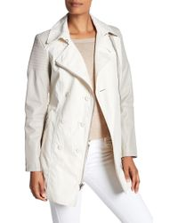 Laundry by Shelli Segal - Moto Sleeve Trench Coat - Lyst