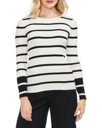 Vince Camuto - Ribbed Stripe Sweater - Lyst