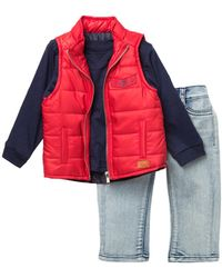 7 For All Mankind - Quilted Vest, Tee, & Jeans Set (baby Boys) - Lyst