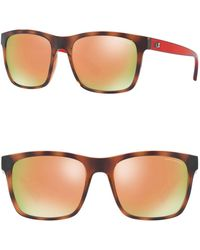 Armani Exchange - 57mm Square Sunglasses - Lyst