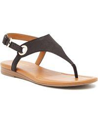 Franco Sarto - Goldy Leather Sandal - Lyst