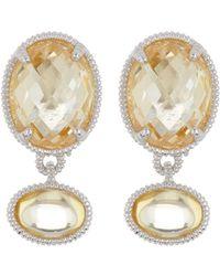 Judith Ripka - Sterling Silver Mardi Gras Double Gemstone Dangle Earrings - Lyst