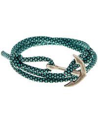 Link Up - Teal Nylon Paracord Anchor Wrap Bracelet - Lyst
