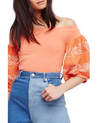 Urban Outfitters - Rock With It Off The Shoulder Top - Lyst