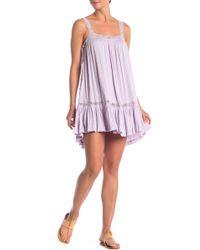 0ed3a697a5e07 Free People Longwood Printed Slip Dress in White - Lyst