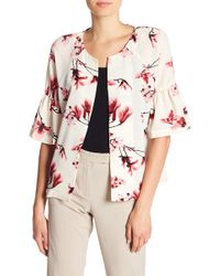 B Collection By Bobeau - Ash Puff Sleeve Floral Print Jacket - Lyst