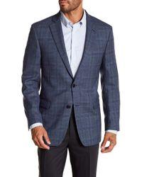 Brooks Brothers - Blue Plaid Two Button Notch Lapel Wool Regent Fit Sport Coat - Lyst