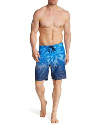 Hurley - Palm Trees Print Swim Trunks - Lyst