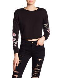 ARRIVE - Cropped Pullover Sweatshirt - Lyst