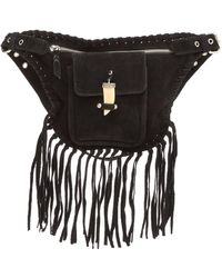 Raj - Fringe Leather Belt Bag - Lyst