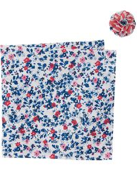 Original Penguin - Tanner Floral Pocket Square & Lapel Pin Set - Lyst