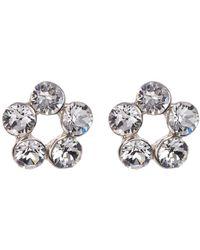 c.A.K.e. By Ali Khan - Swarovski Crystal Floral Stud Earrings - Lyst