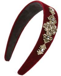 Tasha - Velvet Scrollwork Headband - Lyst