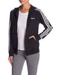 adidas - Essentials 3-stripe Zip Hoodie - Lyst