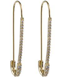 CZ by Kenneth Jay Lane - Cz Pave Flower Stud Clip Earrings - Lyst